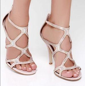 Madden Girl Rhinestone Heeled Sandals